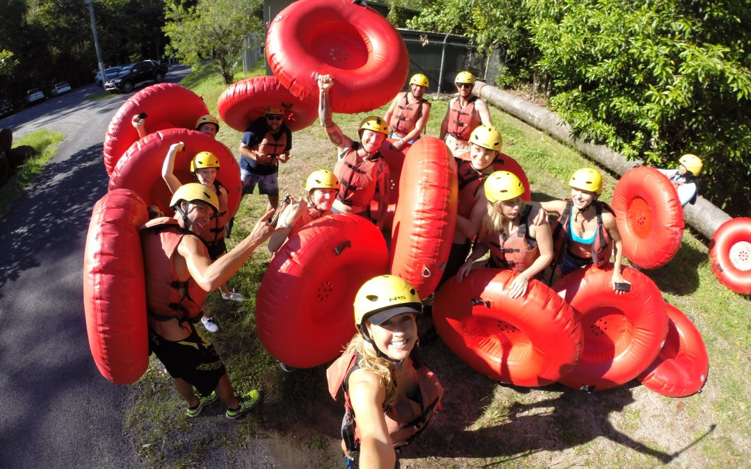 #radtimes River Tubing with Aussie Drifters